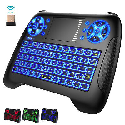 Backlit Mini Wireless Keyboard Touchpad Mouse for Android TV Box,Mac mini,PC,RPi