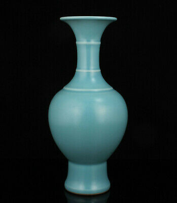 China Collectible Natural Fired Old Jun Porcelain Vase Home Decoration