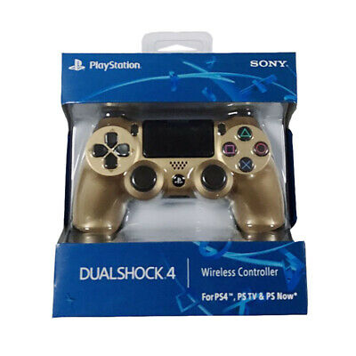 FAST OFFICIAL SONY PS4 DUALSHOCK 4 WIRELESS CONTROLLER - NEW & SEALED - Gold