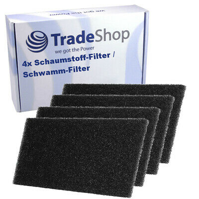 4x Schaumstoff-Filter für Bauknecht Excellence HP 7422 8522 Green Intelligence