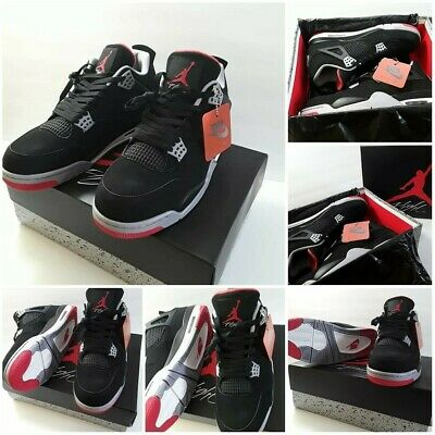 f17bbf0e5f00 DS 1999 NIKE AIR JORDAN 4 IV BLACK CEMENT BRED RETRO OG supreme lot ...