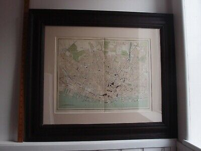 1895 VICTORIAN LIVERPOOL MAP CITY PLAN IN A VICTORIAN FRAME 27(W) x 23(H) ins