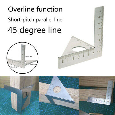 Square Layout Miter Rafter 45/90° Metric Gauge Ruler Woodworking New Design