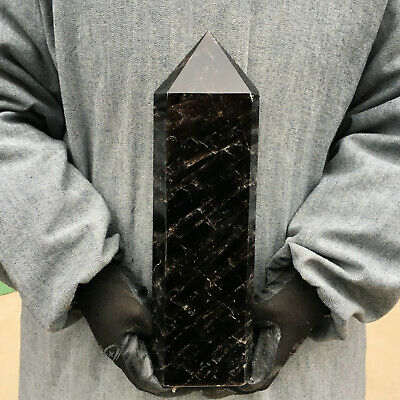 6.64LB natural smokey quartz obelisk crystal wand point healing HOL13