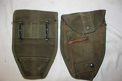 US Military Issue Vietnam Era Canvas Shovel Cover E Tool Cover used
