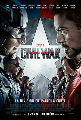 Affiche cinéma CAPTAIN AMERICA CIVIL WAR marvel