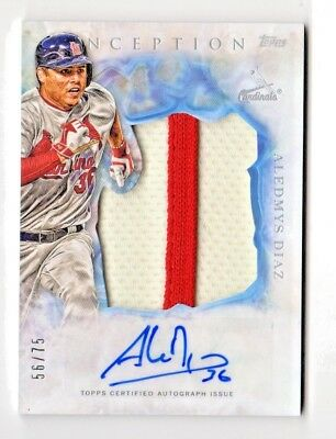 Aledmys Diaz Mlb 2017 Topps Inception Auto Jumbo Patch (Cardinals,Blue Jays)