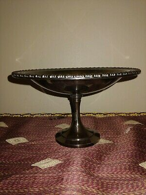 "1970's Vintage Oneida Silversmiths Silver Plated 6"" Candy Dish/Pedestal"