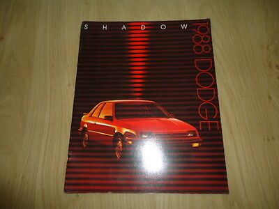 Dodge Shadow Brochure / Prospekt 1988