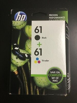 HP 61 Black/Tri-Color Combo Pack Ink Cartridges SM569AN BRAND NEW #7821