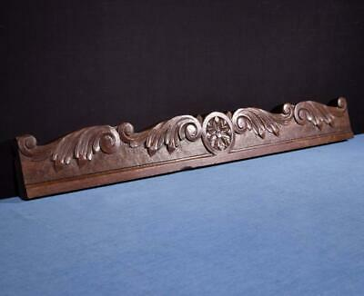 "*39"" French Antique Breton Pediment, Crown or Trim Chestnut Wood from Brittany"