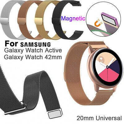 Stainless Steel Magnetic Milanese Strap For Samsung Galaxy Watch Active 42mm