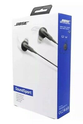 Bose SoundSport In-Ear Earphones - Charcoal. iOS/iPhone. New & Sealed
