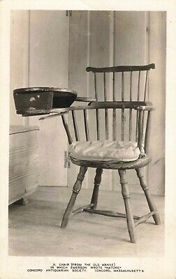 Postcard Emerson's Writing Chair from Old Manse Concord Mass