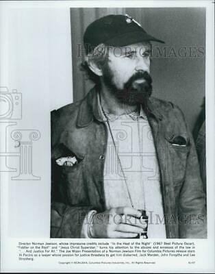 """1979 Press Photo Director Norman Jewison on Set """"...And Justice for All"""" Film"""