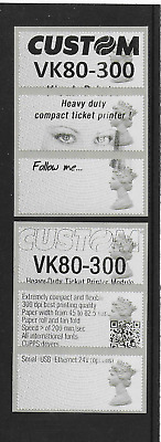 Post & Go - 1st Class Machins (R17YAL) as Old & New Style 'Custom' Test Strips