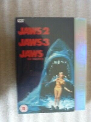 Jaws 2/Jaws 3/Jaws - The Revenge (DVD, 2005, 3-Disc Set, Box Set) SEALED