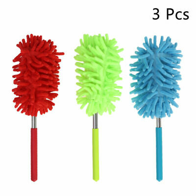 3xExtendable Microfiber Duster Telescopic Dust Brush Home Car Furniture Cleaning