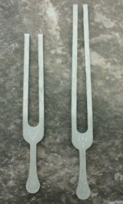 Tuning Fork C 256 Hz and 512 C Aluminum Alloy lot of 2
