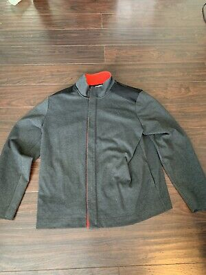 f05f1d8fbb3 CINTAS GRAY WORK Jacket XL Uniform Lined Insulated Used 677 - $8.99 ...