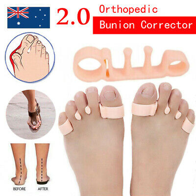 2 pcs orthopedic Bunion Corrector Toe Separators Elastic Straighteners Spacers