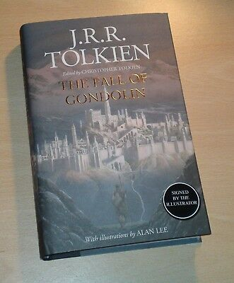 J.R.R.Tolkien The Fall of Gondolin SIGNED by Alan Lee Illustrator