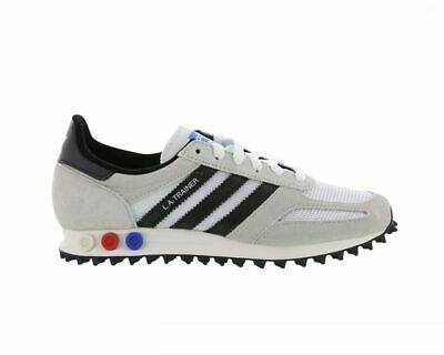 newest f0679 b024e Original Mens Adidas LA Trainer OG White Black Brown Trainers Sneakers  BY9322
