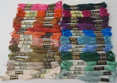 Lot of 40 skeins of DMC Mouline Special Art 117 cotton embroidery floss