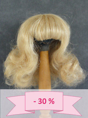30% Promo - Wig for Doll T4 (24cm) 100% Hair Natural -
