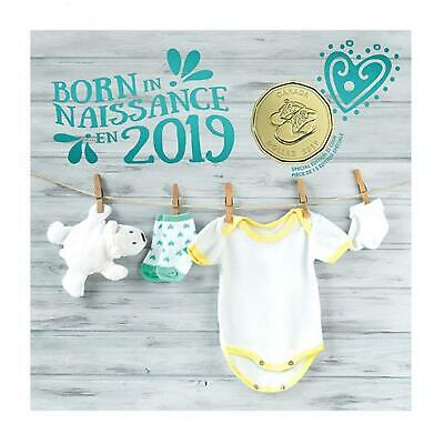 Born in 2019 Baby Gift Coin Set Canada Special Edition Struck $1 Loonie RCM