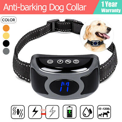 Auto Rechargeable Anti Bark Dog Collar Vibration Stop Barking Pet Trainer Tool