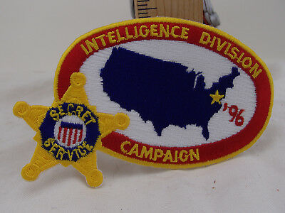"4"" oval United States Secret Service 1996 Campaign Intelligence Division  Patch"