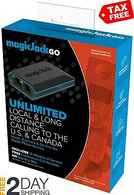 Magic Jack Go service Free 12 Months Latest Model Plus Phone Digital Business