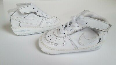 d591c991ff Nike Air Force 1 Soft Bottom White Toddler Shoes Crib Size 3 C (325337-