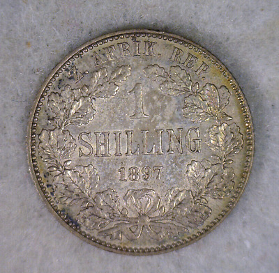 Coins & Paper Money 1892 South Africa 1 Shilling Lot#l2636 Silver Coins: World Low Mintage