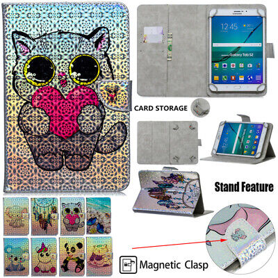 Kids Shockproof PU Leather Card Pocket Wallet Case Cover Stand For Apple iPad