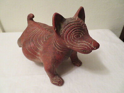 Pre Columbian Style Colima Dog Replica Pottery AS IS