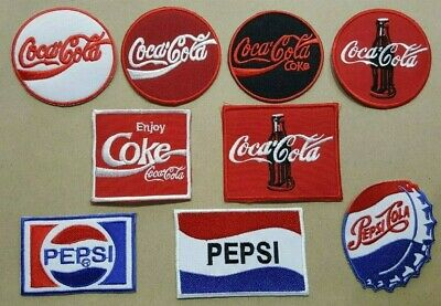 PEPSI COKE COCA COLA ENJOY FUNNY DRINK BIKER Embroidered Iron Sew On Patch Logo