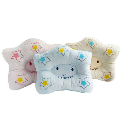 Baby Newborn Infant Cot Printed Pillow Soft Correct Head Shape Cotton Support UK