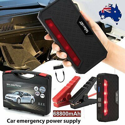 68800mAh Vehicle Car Jump Starter Booster USB Battery Power Bank Charger 12V AU