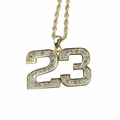 9f000d72ec929 BLING DOG TAG Pendant 9ct Gold Plated Rope Chain Necklace Hip hop ...