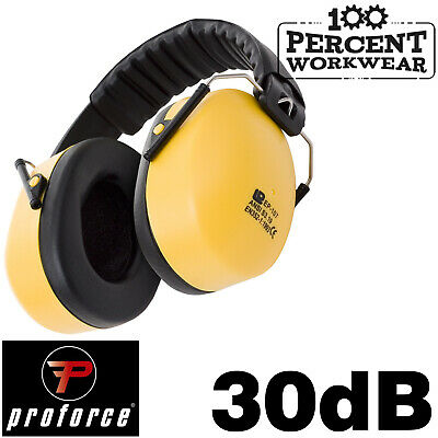 SNR 30dB Super Pro Ear Defenders Noise Cancelling Muffs Folding Foldable Compact