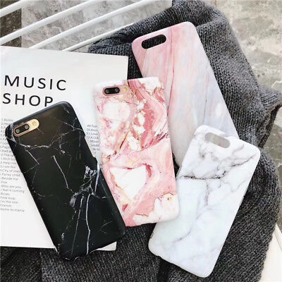 Silicone Gel Case For iPhone 7 XR XS Max 6s 8 Plus Shockproof Marble Print Cover