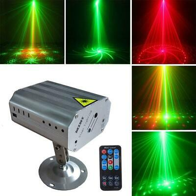 Laser Projector Stage Lights Mini Remote Control LED Flash Light Party DJ Disco