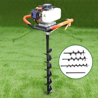 52CC PETROL EARTH Auger / Fence Post Hole Borer With 3 Bits