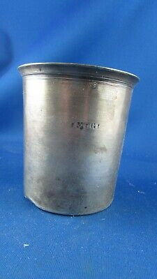belle large ancienne timbale XIXE argent massif poincon minerve monogramme MG GM