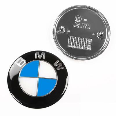 2X Replacement Car Emblem Chrome Front Badge Logo 82mm 2 Pins For BMW Hood/Trunk