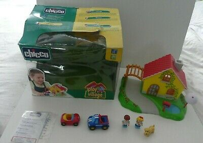 Chicco Play Village, Car, Figures - Boxed - Bundle  - Made In Italy