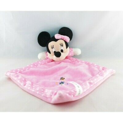 Doudou plat minnie rose pois coccinelle DISNEY LOT DE 2 - Souris - Rat Plat / Se