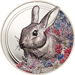 Mongolia 2019 500 Togrog Woodland Spirits - Rabbit 1 Oz .999 Silver Proof Coin
